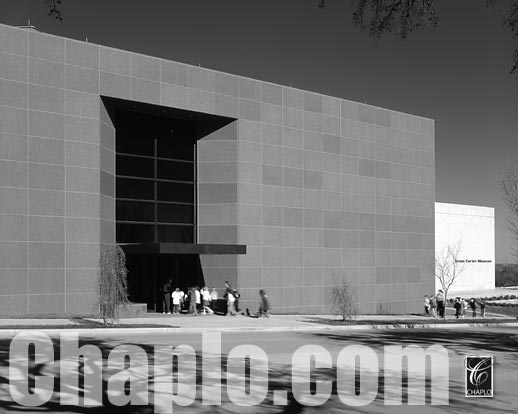 Amon Carter Museum Expansion Architectural Exterior Facade digital Photography by Paul Chaplo, M.F.A. Dallas, TX Ft. Worth, Texas AERIAL