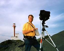 P.Chaplo at the Yarmouth Light by Anne Chaplo (c)2001
